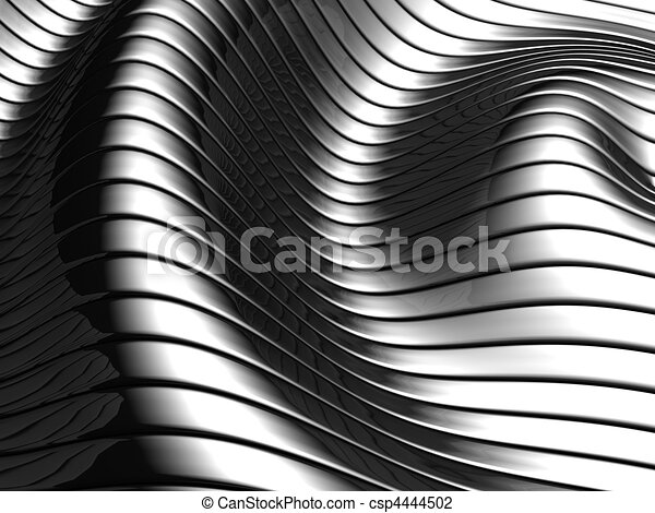 Aluminum abstract wave stripe pattern - csp4444502