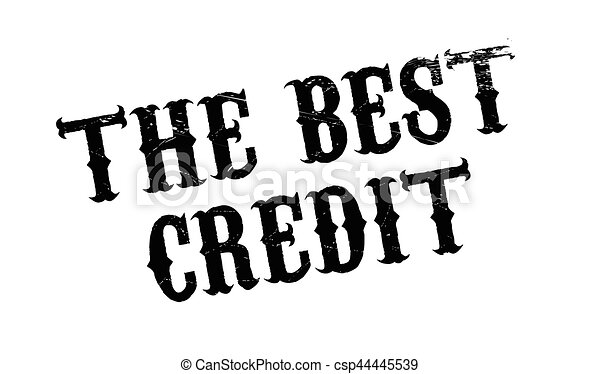 The Best Credit rubber stamp - csp44445539
