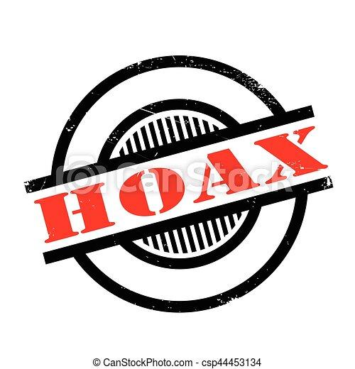 Hoax rubber stamp - csp44453134