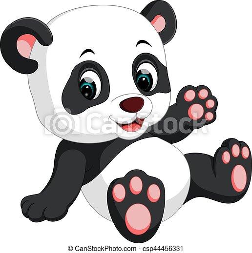 vecteurs de mignon panda dessin anim illustration de mignon csp44456331 recherchez. Black Bedroom Furniture Sets. Home Design Ideas