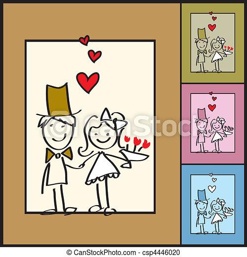Wedding greeting card illustration - csp4446020