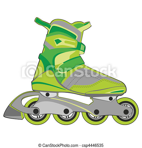 isolated roller skates - csp4446535