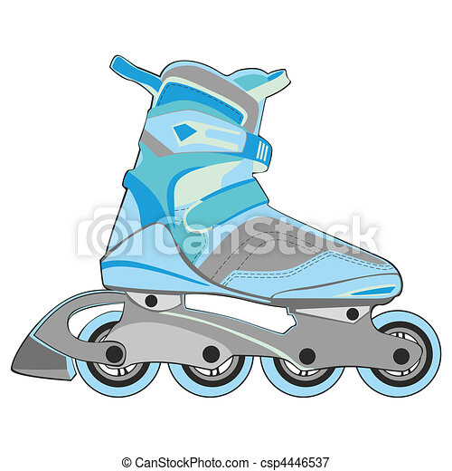 isolated roller skates - csp4446537