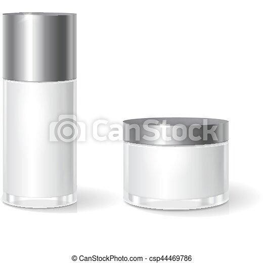 Glas leer clipart  Vektor von deckel, butter, creme, glas, leer, krug, verpackung ...