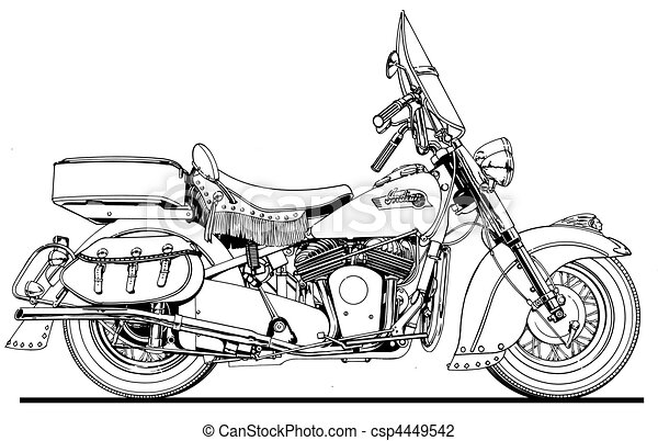 48 Indian Chief Side View - csp4449542