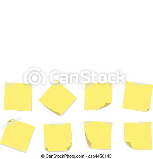 Sticky Notes with Tape - csp4450143