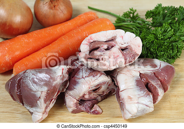 Lamb heart stew ingredients - csp4450149