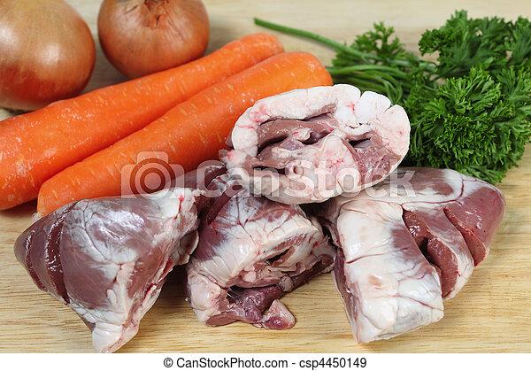 Lamb heart stew ingredients - csp4450149