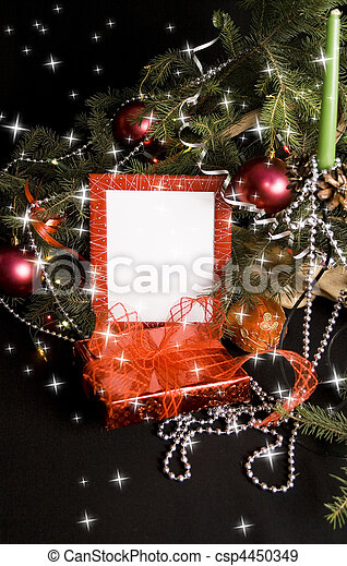 Christmas lights frame - csp4450349