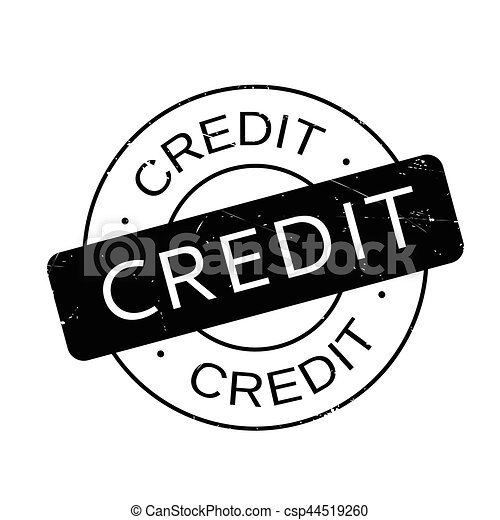 Credit rubber stamp - csp44519260