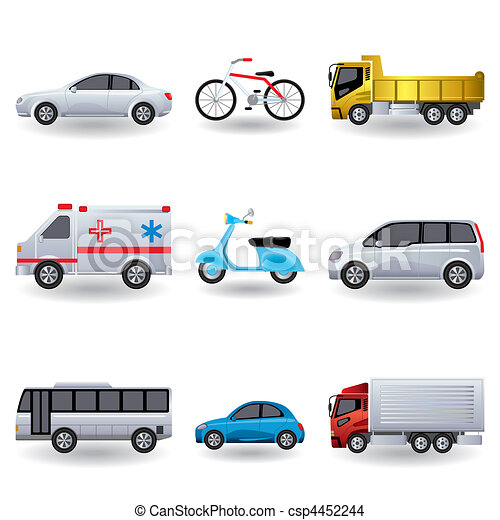 Realistic transportation icons set - csp4452244