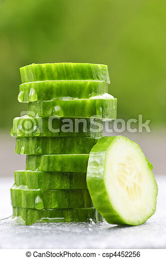Sliced cucumber - csp4452256