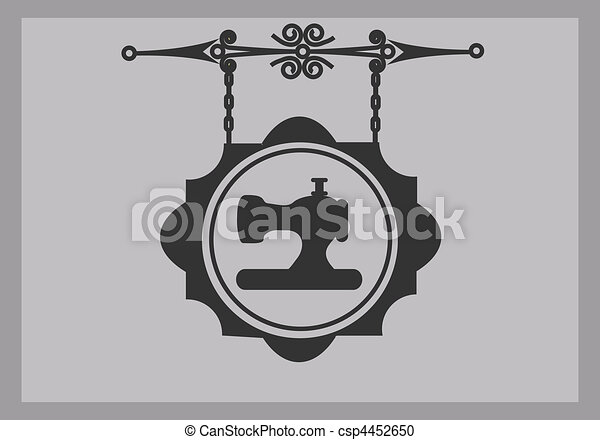 retro tailor sign of sewing machine - csp4452650