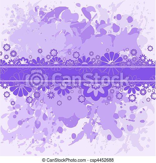 violeta, Plano de fondo, lila, flores - csp4452688