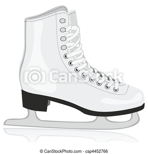 isolated ice skates - csp4452766