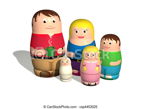 Russian doll family - csp4453025
