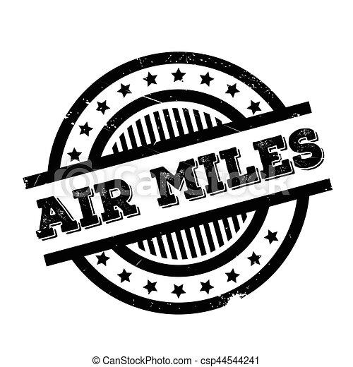 Air Miles rubber stamp - csp44544241