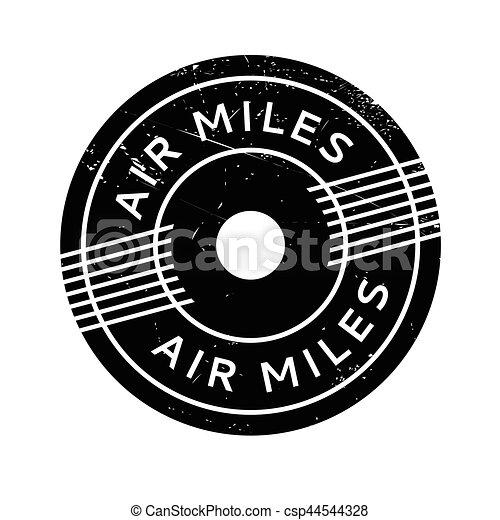 Air Miles rubber stamp - csp44544328