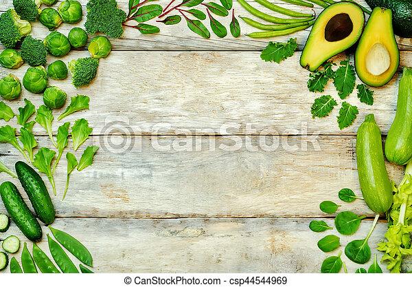 legumes, madeira, experiência verde - csp44544969