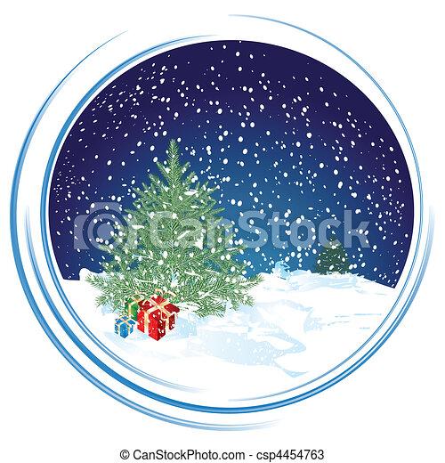 Christmas scene - csp4454763