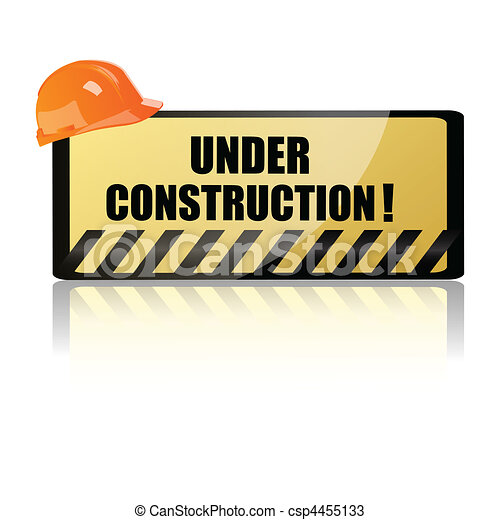 hardhat on underconstruction board - csp4455133
