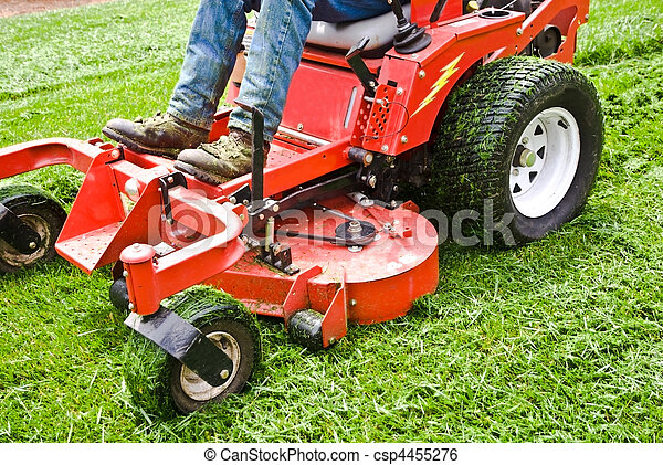 Lawn Care  Riding Mower - csp4455276