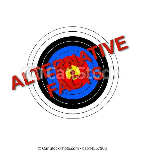 Target Alternative Facts - csp44557308