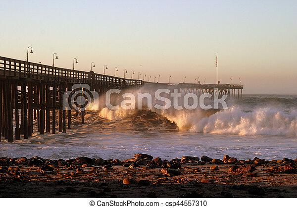 Ventura ocean Waves 2007-12-05 066 - csp44557310