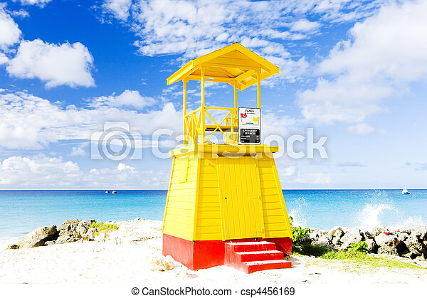 cabin on the beach, Enterprise Beach, Barbados, Caribbean - csp4456169