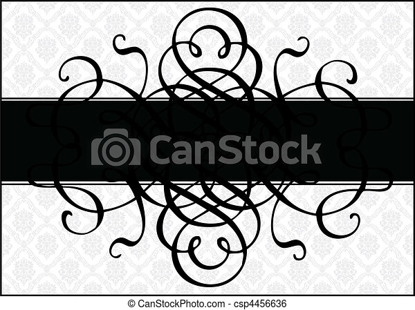 Vector Ornament Frame and Pattern - csp4456636