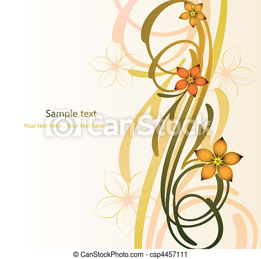 Abstract autumn image with flowers. Vector - csp4457111