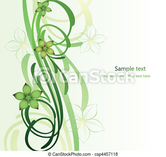 Abstract image, there are flowers, scroll branch - csp4457118