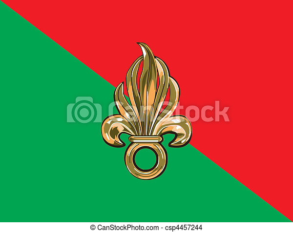 French foreign legion flag - csp4457244