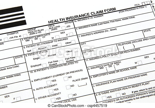 Health Insurance Claim Form - csp4457519