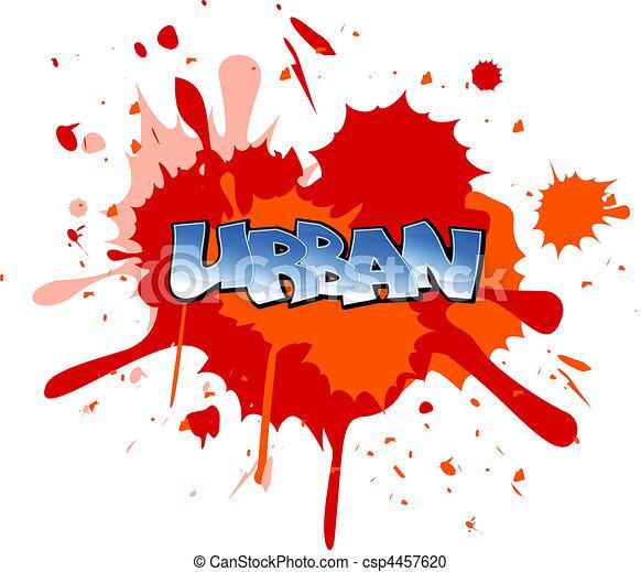 Clipart vecteur de graffiti fond urbain graffiti - Bombe de peinture graffiti ...