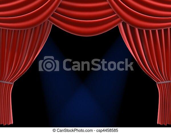 red curtain - csp4458585