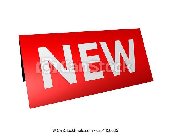 new sign - csp4458635