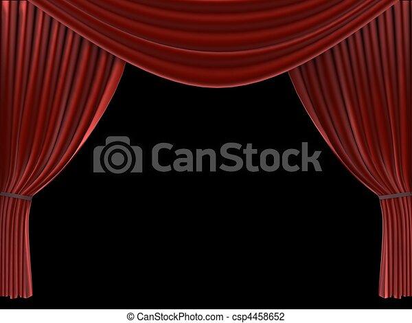 red curtain - csp4458652