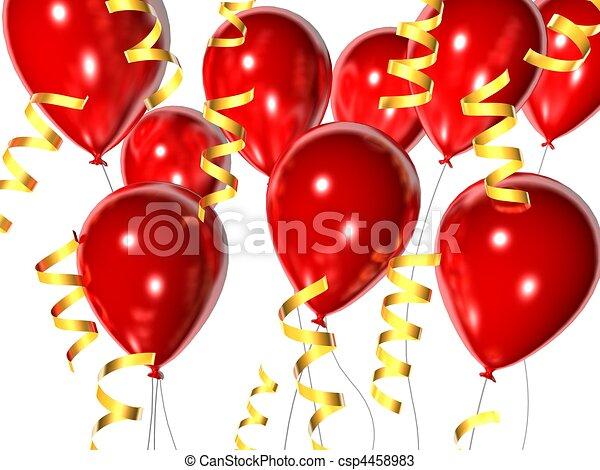 celebration balloons - csp4458983