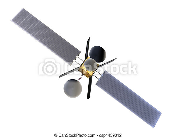 Weather Satellite Drawing Stock Illustration Satellite