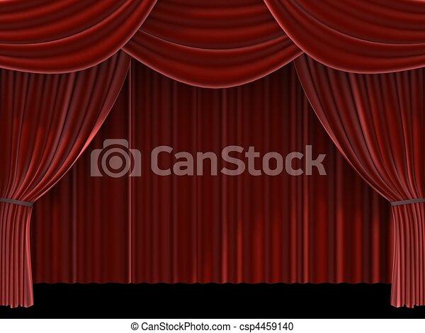 red curtain - csp4459140