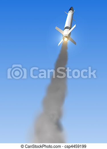launched missile  - csp4459199