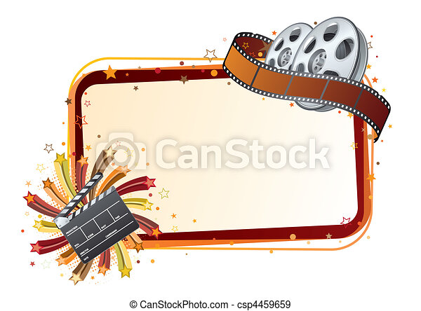 film strip, movie theme element - csp4459659