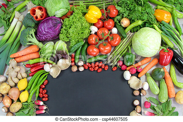 legumes, cópia, coloridos, espaço - csp44607505