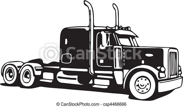Clip Art Vector Of Truck Csp4466666