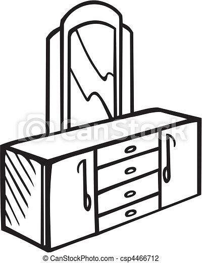 Ilustraciones de vectores de muebles csp4466712 buscar for Comedor facil de dibujar