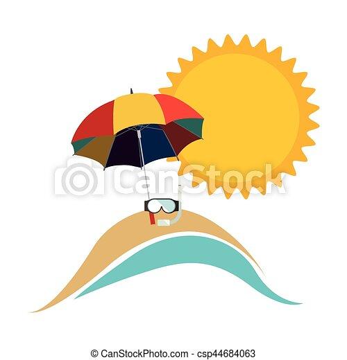 Sonnenschirm grafik  Clip Art Vektor von symbol, sonnenschirm, sandstrand, ikone ...