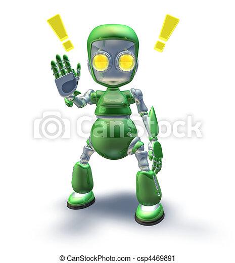 Cute Robot Logo Cute Green Friendly Robot