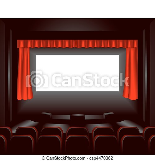 cinema illustration - csp4470362