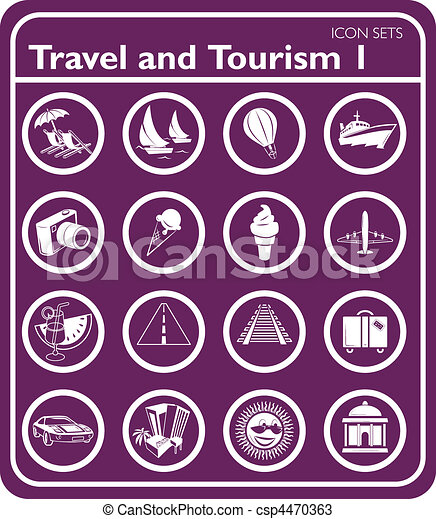 Travel and tourism Icons  - csp4470363
